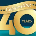 Celebrating 40 Years Logo